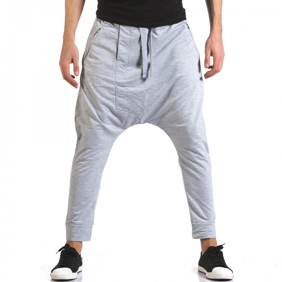 Pantaloni baggy bărbați Dress&GO gri it110316-3