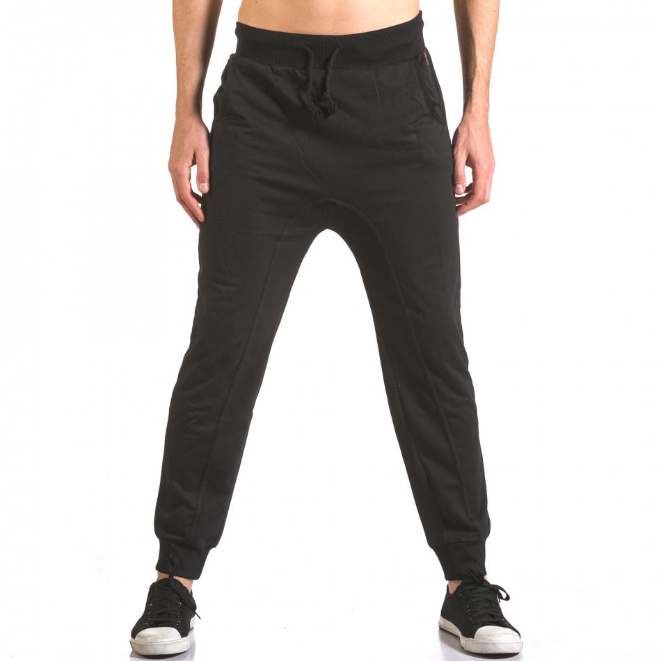 Pantaloni baggy bărbați B-Men negri ca050416-51