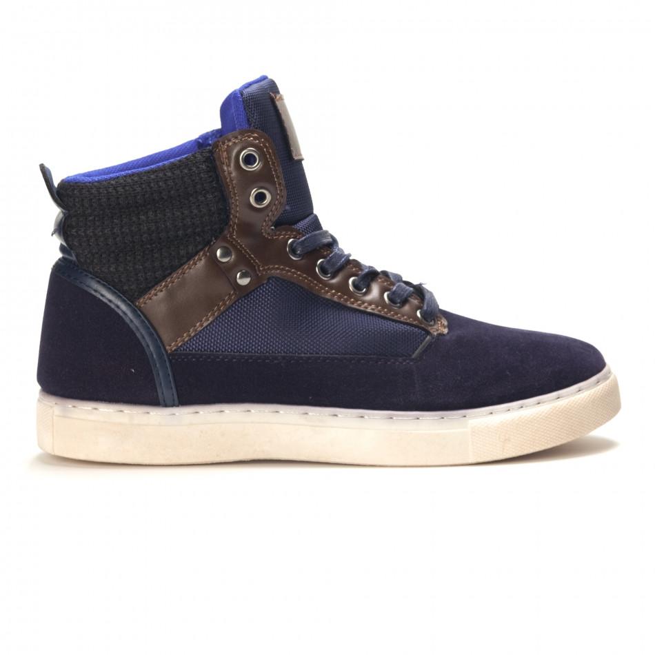 Pantofi sport bărbați Reeca albaștri it100915-21