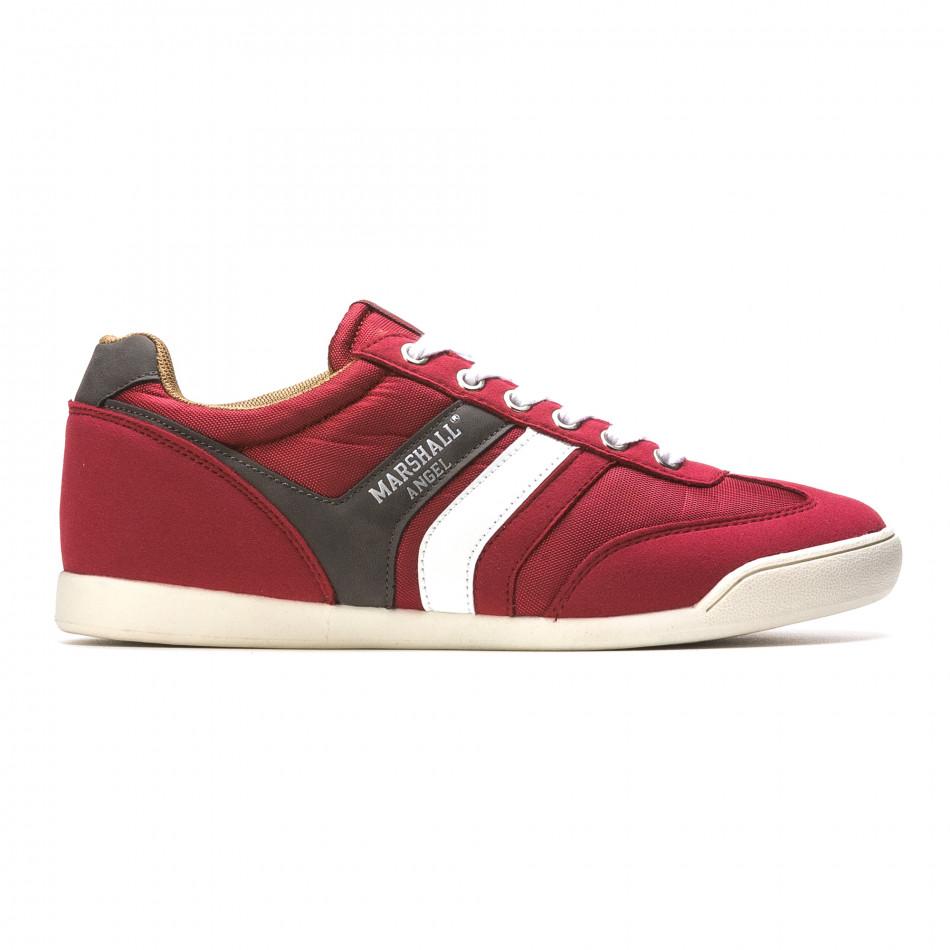 Pantofi sport bărbați Marshall roșii it110316-98