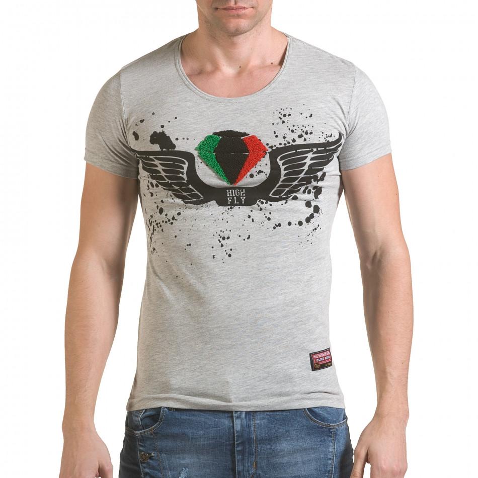 Tricou bărbați Click Bomb gri il170216-78