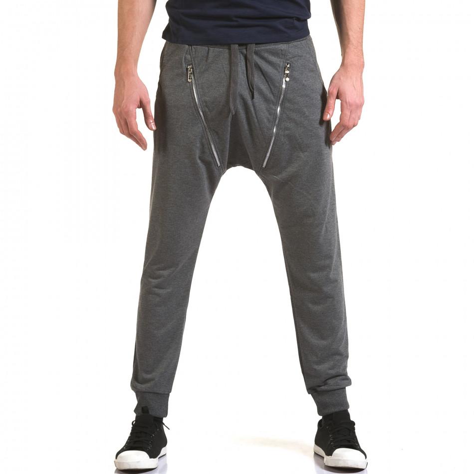 Pantaloni baggy bărbați Belmode gri it090216-45