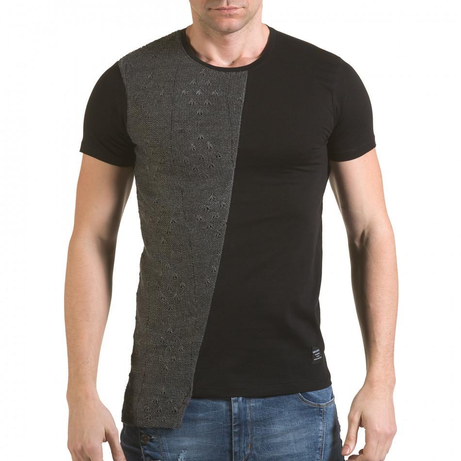 Tricou bărbați SAW negru il170216-63