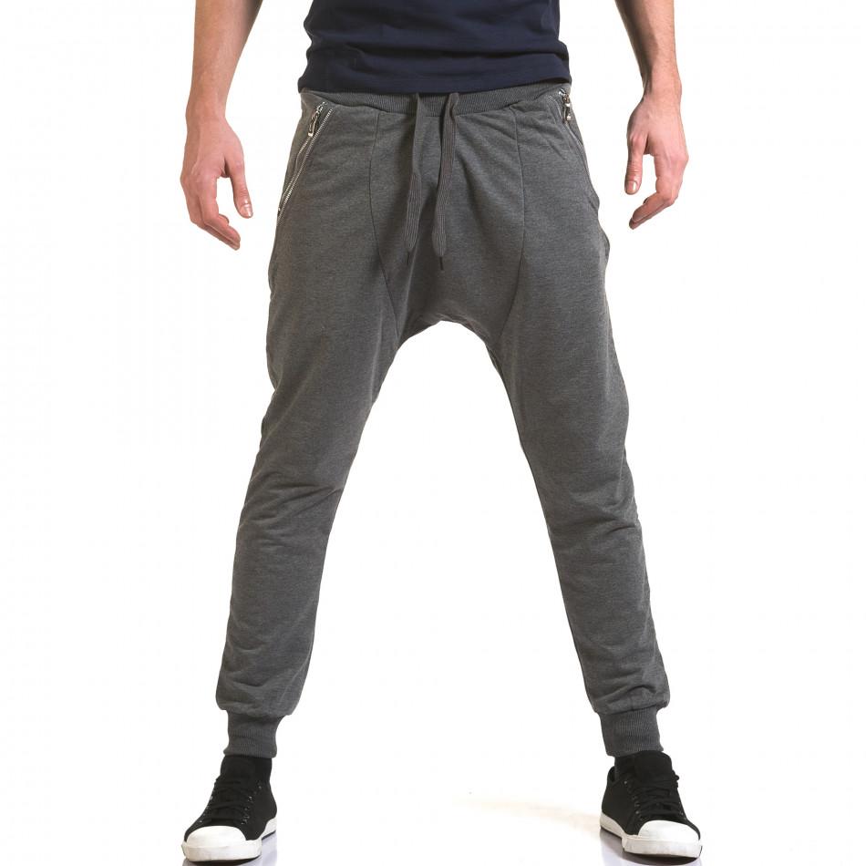 Pantaloni baggy bărbați Belmode gri it090216-41