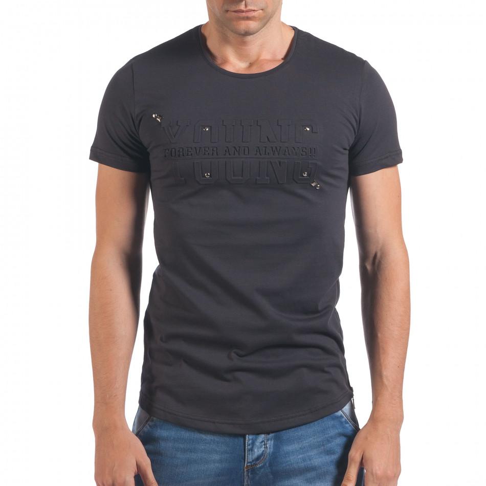 Tricou bărbați Eksi gri il060616-80