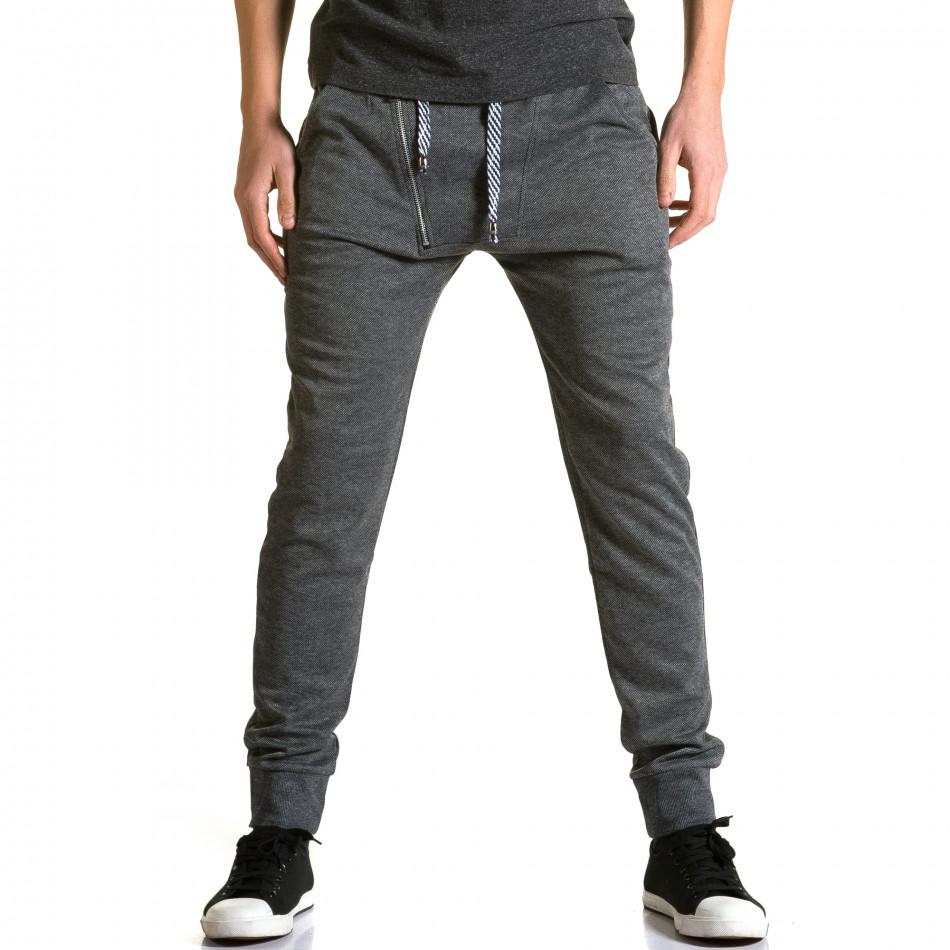 Pantaloni baggy bărbați Furia Rossa gri ca190116-15