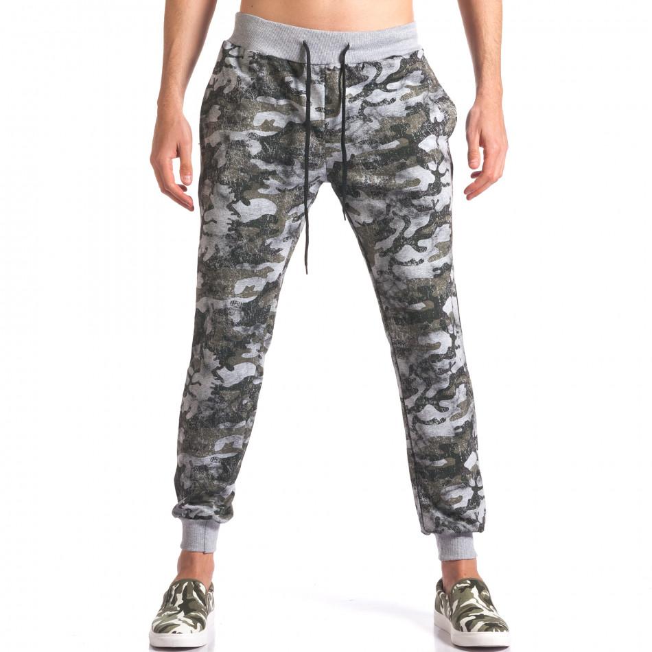 Pantaloni bărbați FM camuflaj it250416-1
