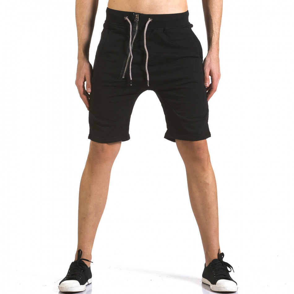 Pantaloni scurți bărbați Bread & Buttons negri it110316-82
