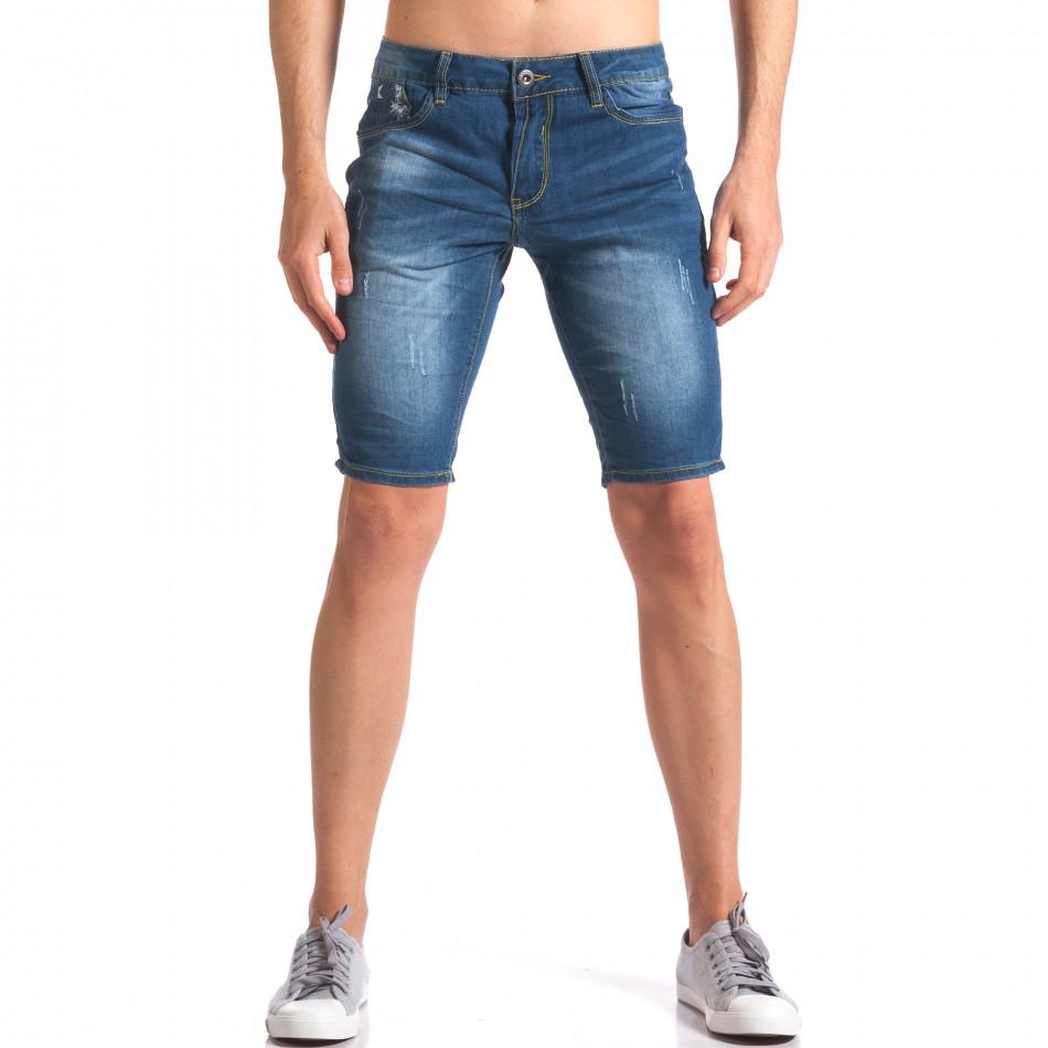 Blugi scurți bărbați Yan's Jeans albaștri it250416-32