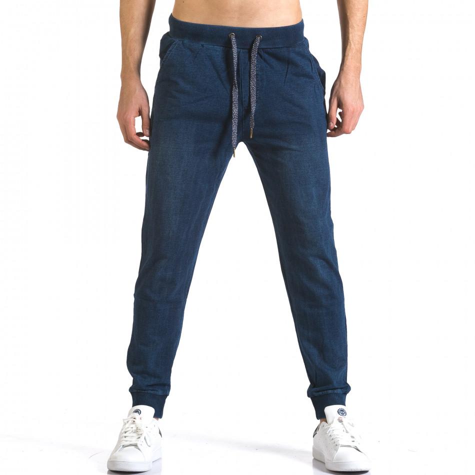 Pantaloni baggy bărbați Enos albaștri it090216-58
