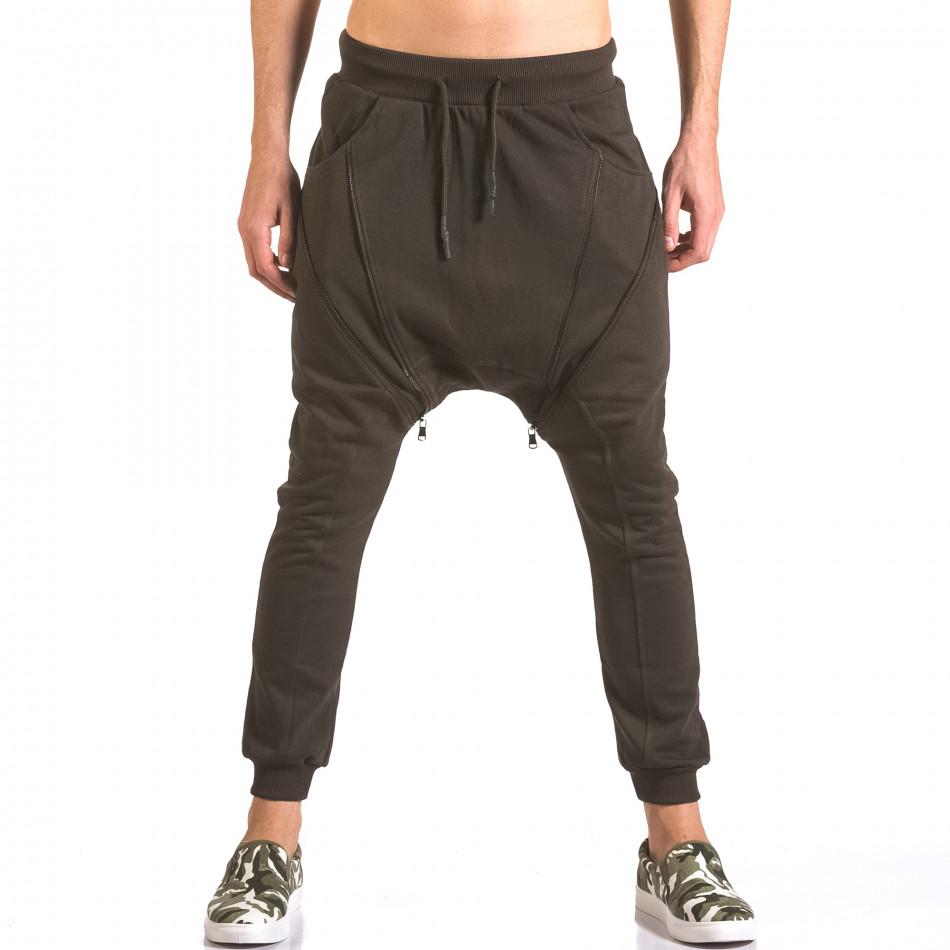 Pantaloni baggy bărbați Devil Slayer maro ca050416-48