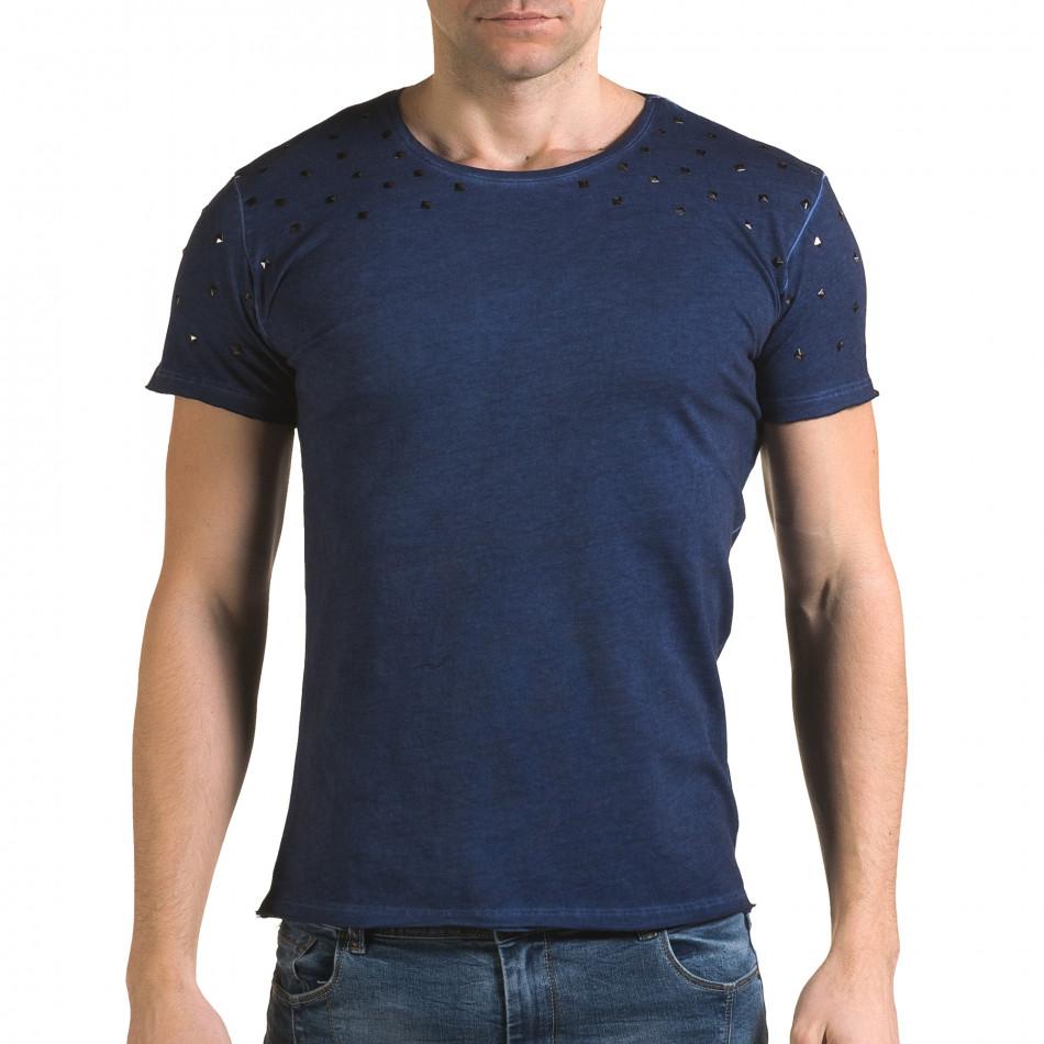 Tricou bărbați Lagos albastru il120216-4