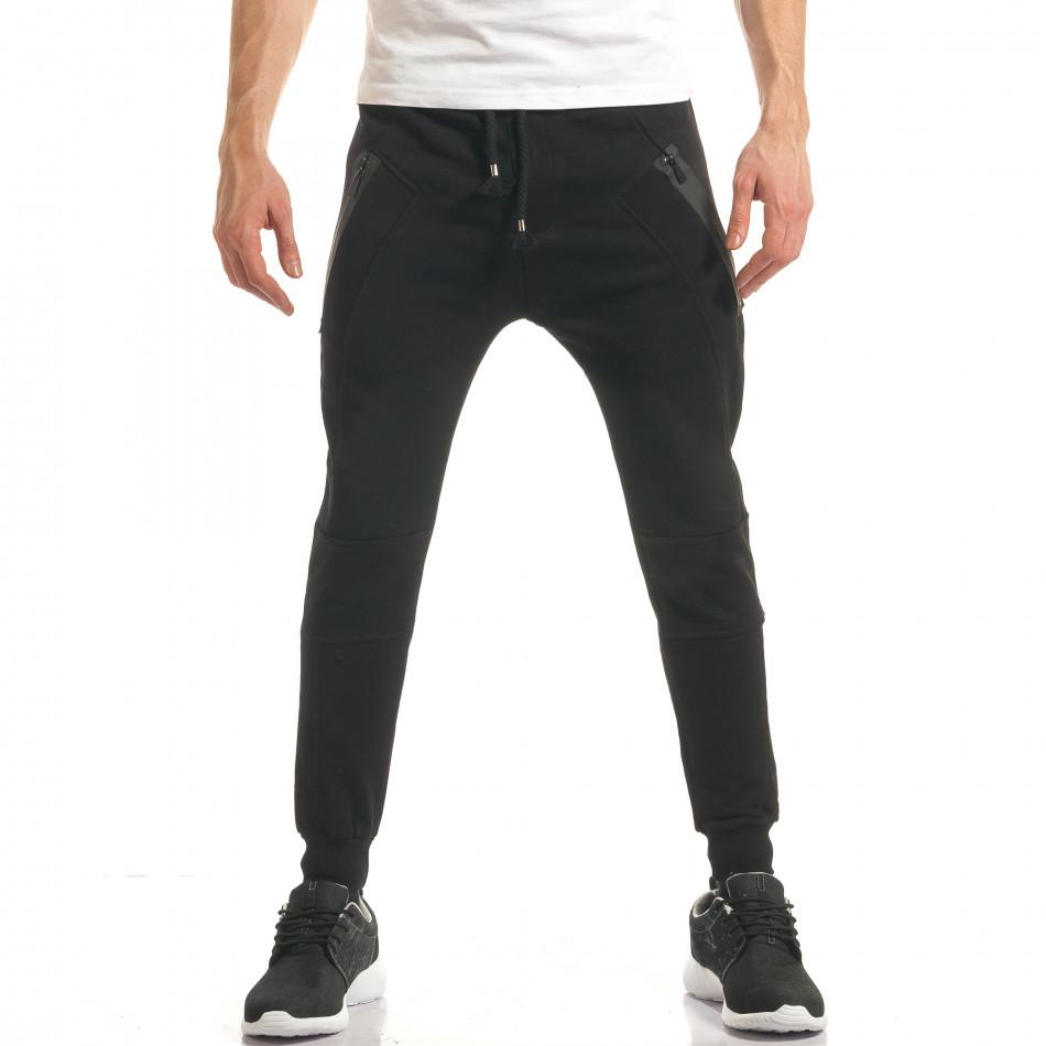 Pantaloni bărbați ChRoy negru it140317-68