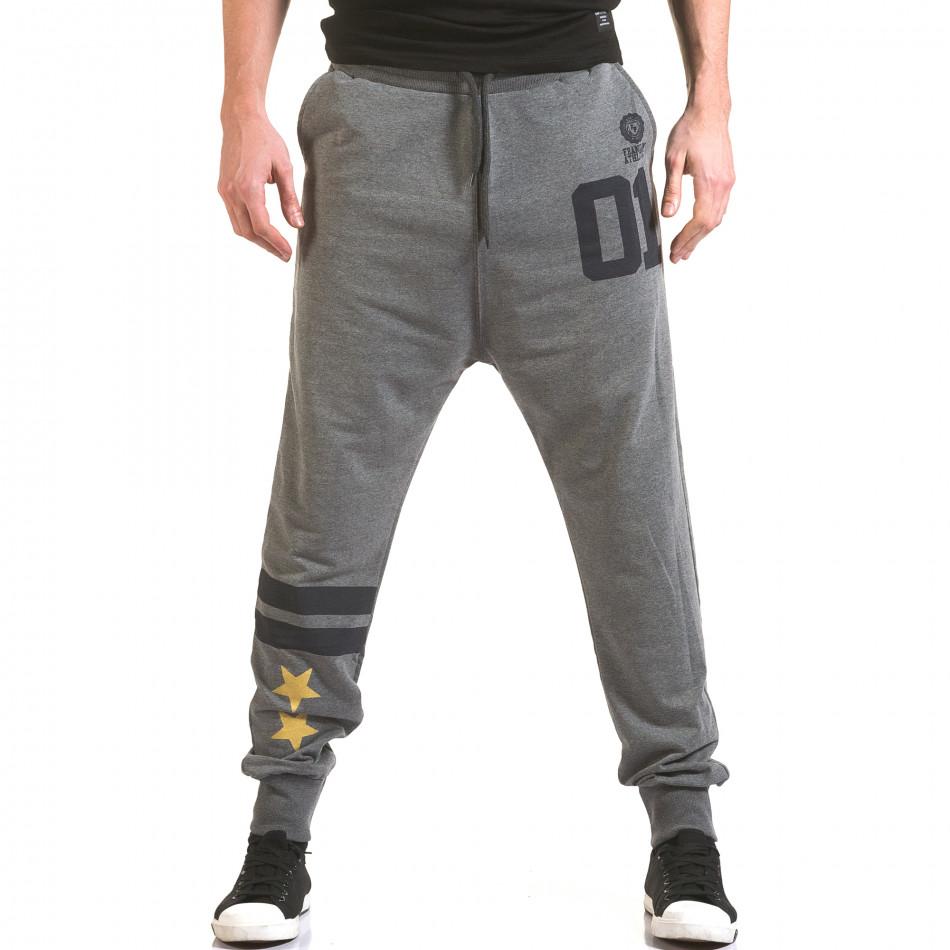 Pantaloni bărbați Franklin gri il170216-137
