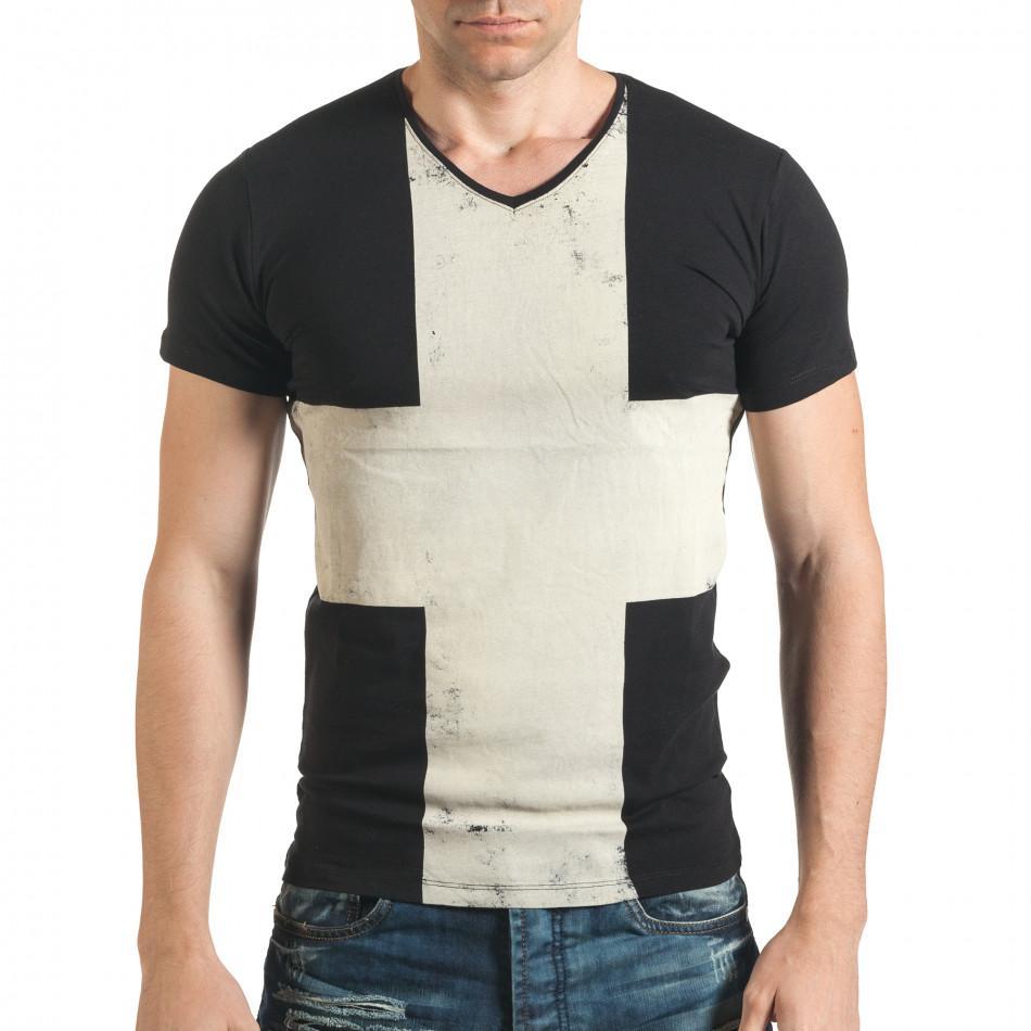 Tricou bărbați Berto Lucci negru il140416-8