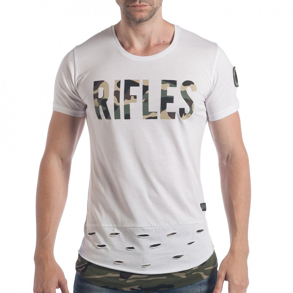 Tricou bărbați Breezy alb tsf140617-2