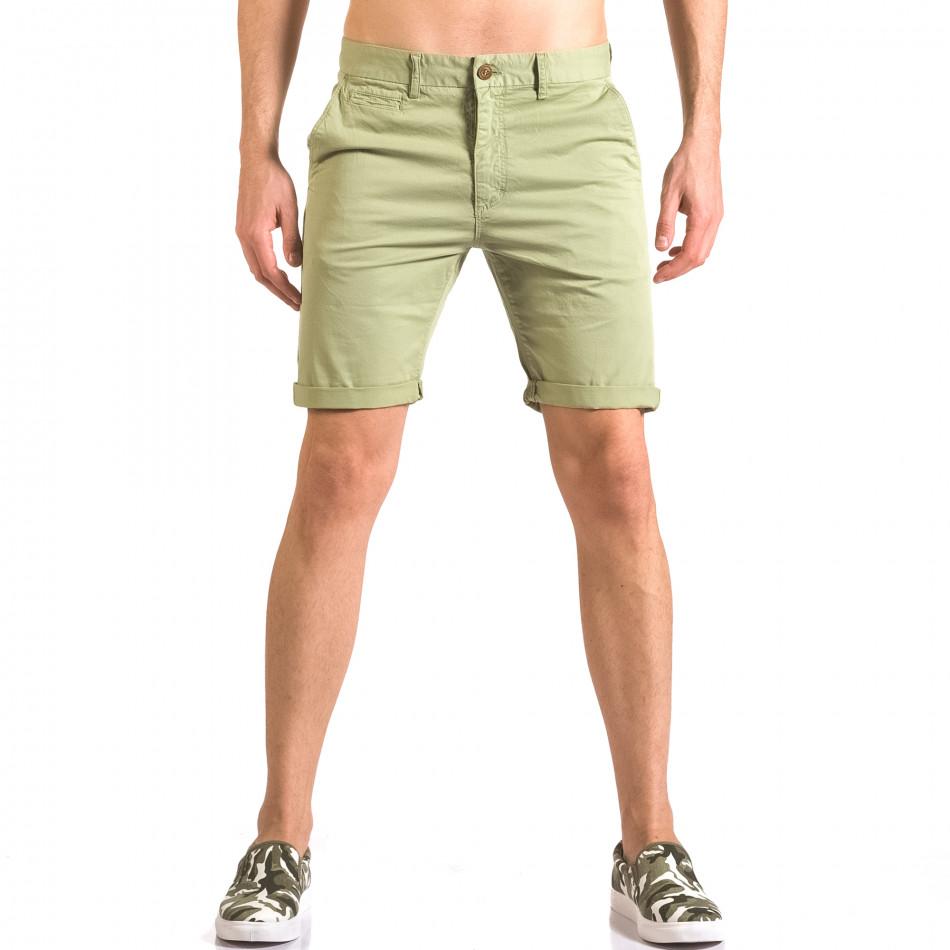 Pantaloni scurți bărbați XZX-Star verzi ca050416-63