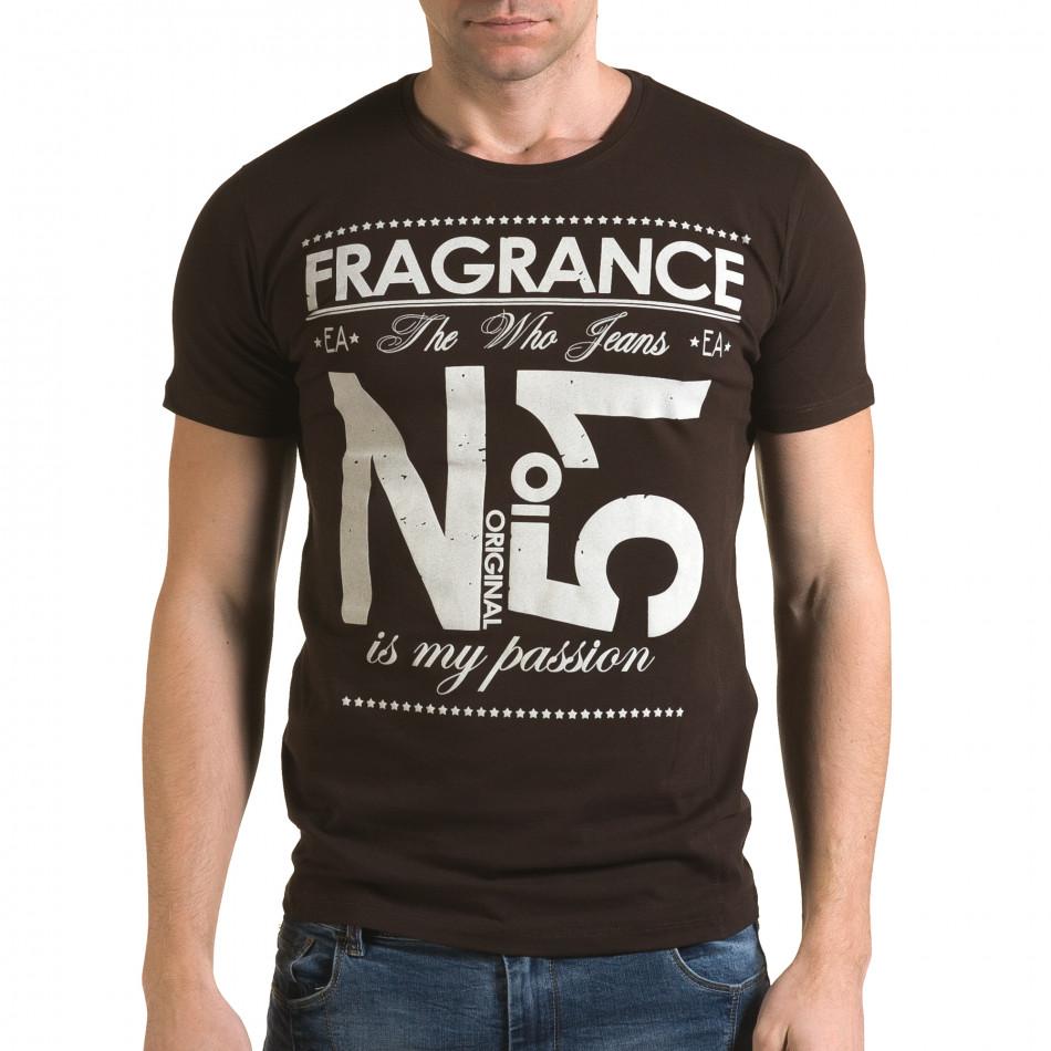 Tricou bărbați Lagos maro il120216-29