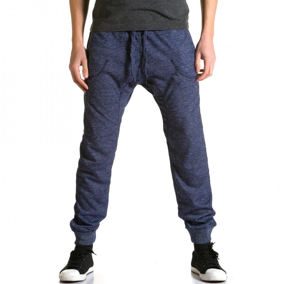 Pantaloni baggy bărbați Dress&GO albaștri ca190116-27