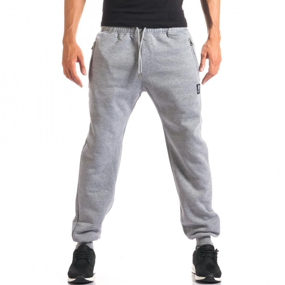 Pantaloni sport bărbați Marshall gri it160816-9