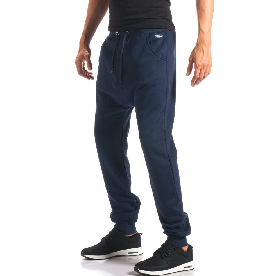 Pantaloni baggy bărbați Marshall albaștri it160816-21