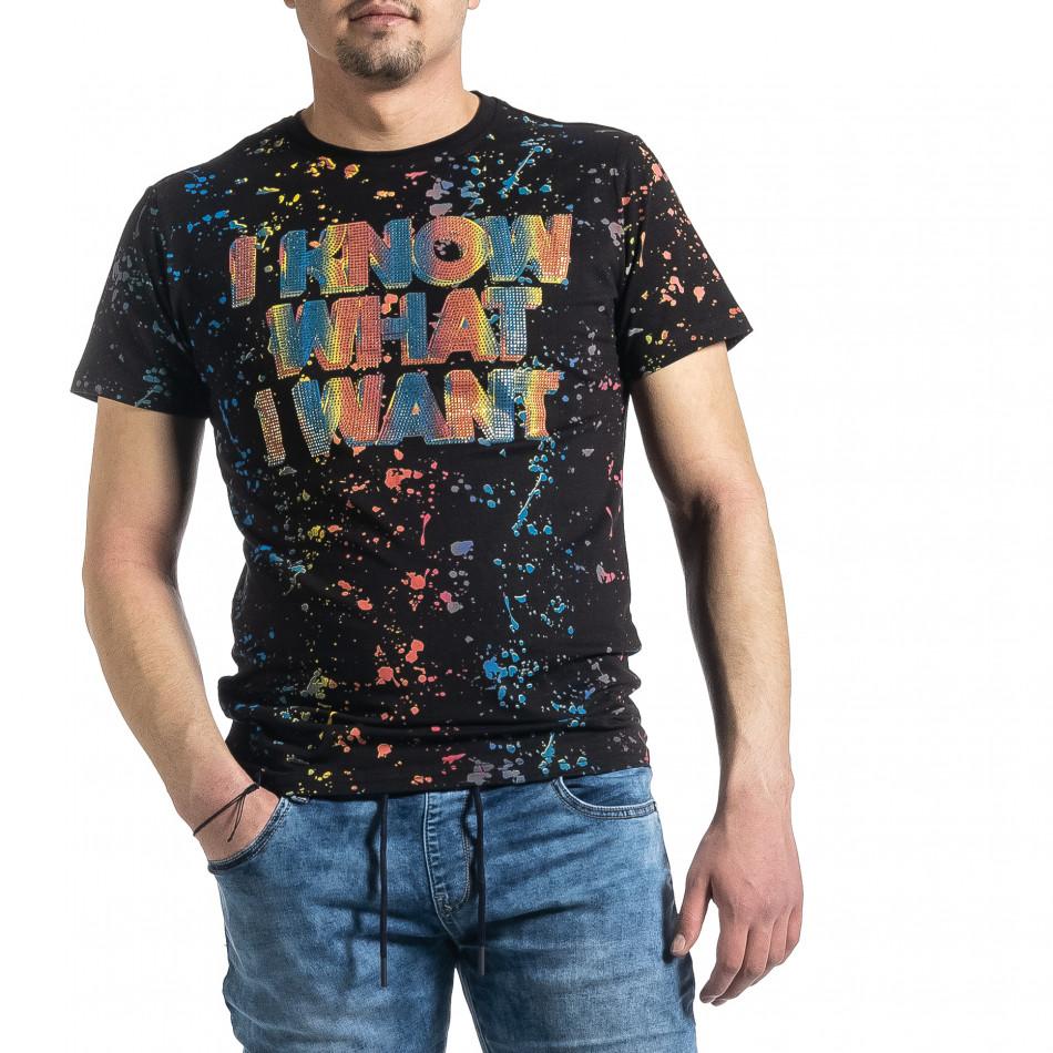 Tricou bărbați Jamez negru gr270221-52