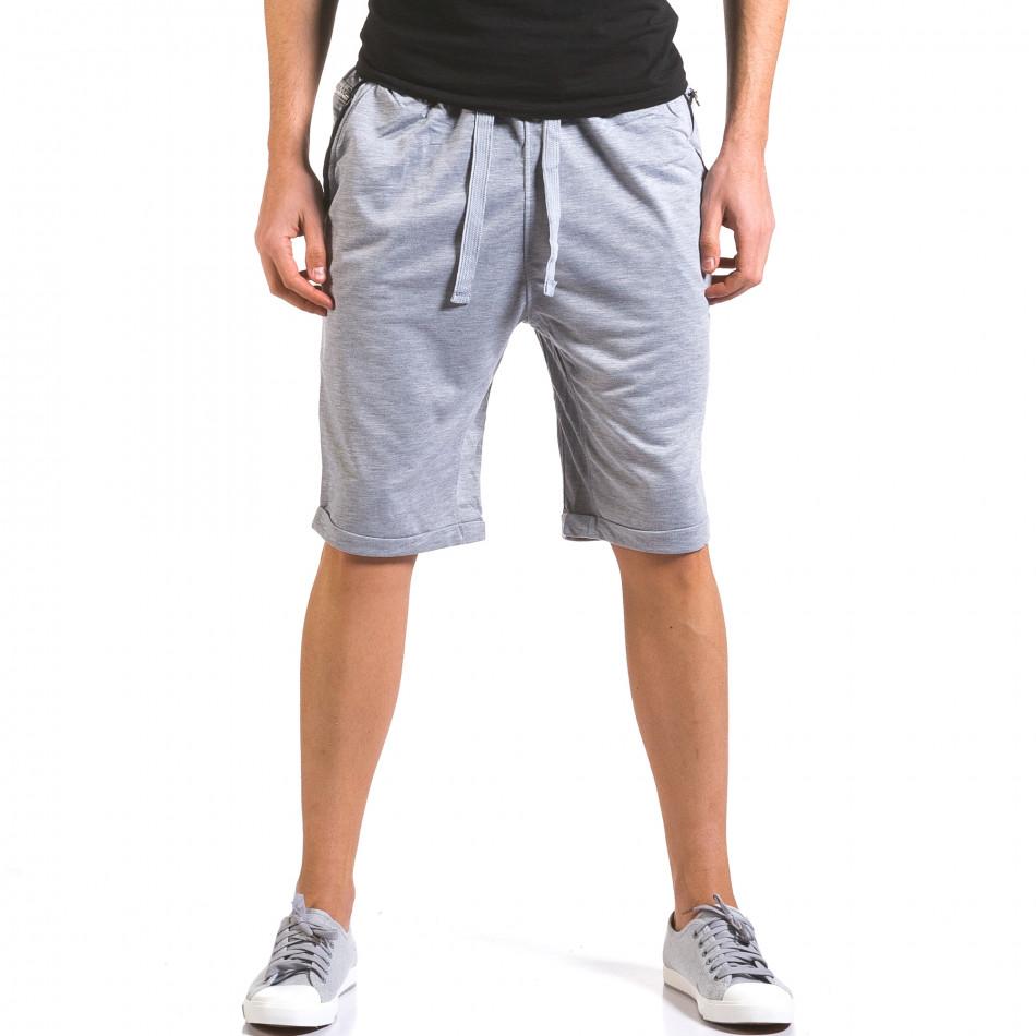 Pantaloni scurți bărbați Dress&GO gri it160316-21