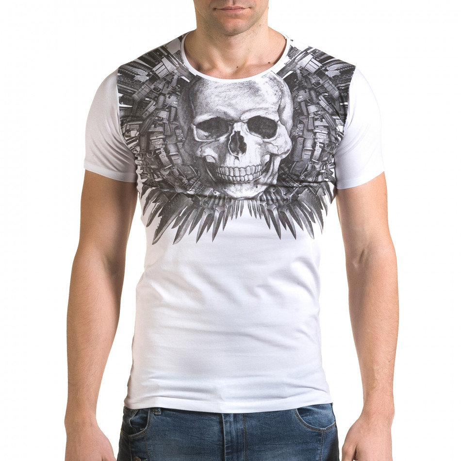 Tricou bărbați Lagos alb il120216-50
