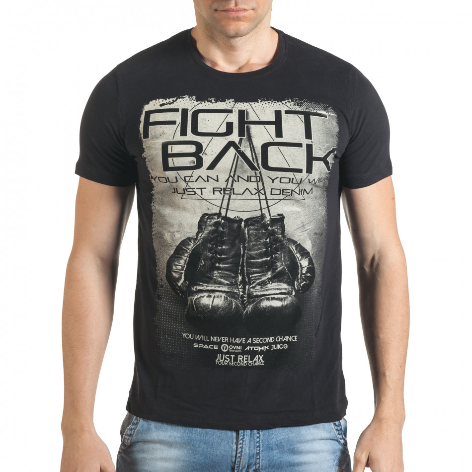 Tricou bărbați Just Relax negru il140416-27