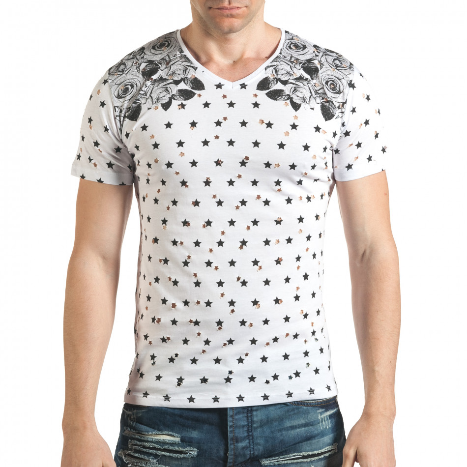Tricou bărbați Lagos alb il140416-58