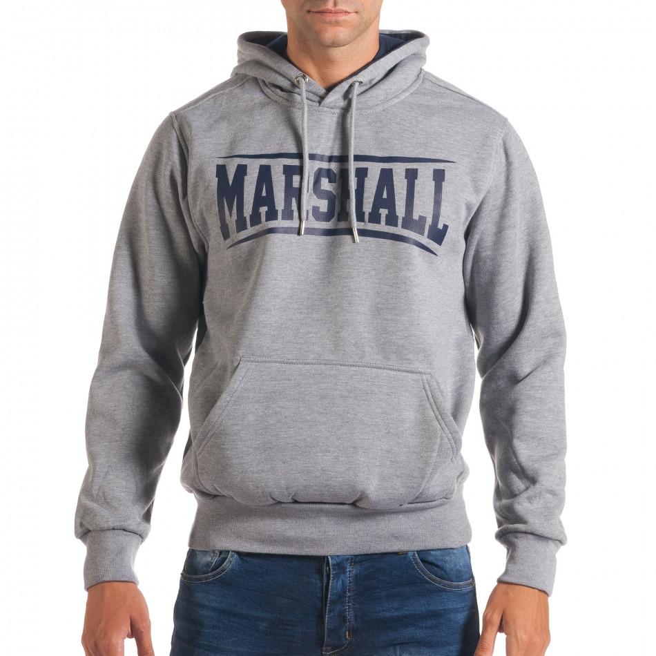 Hanorac bărbați Marshall gri it240816-11