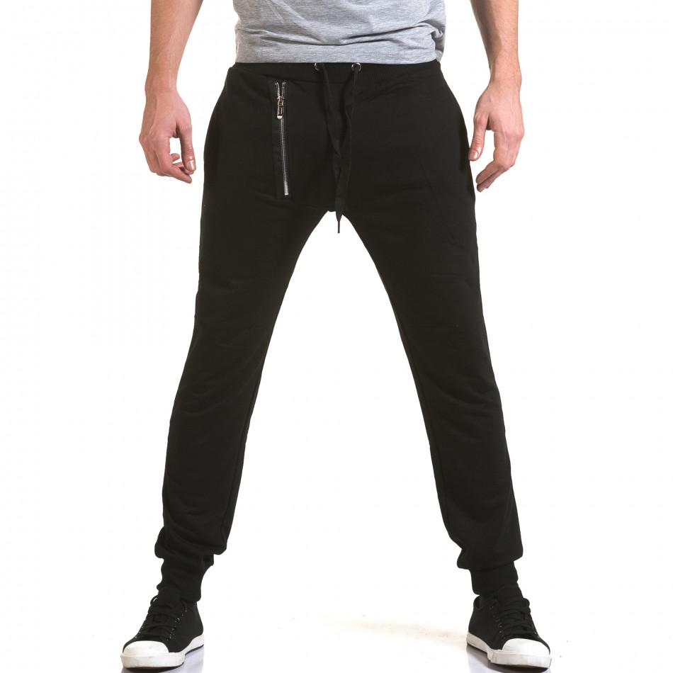 Pantaloni baggy bărbați Belmode negri it090216-44