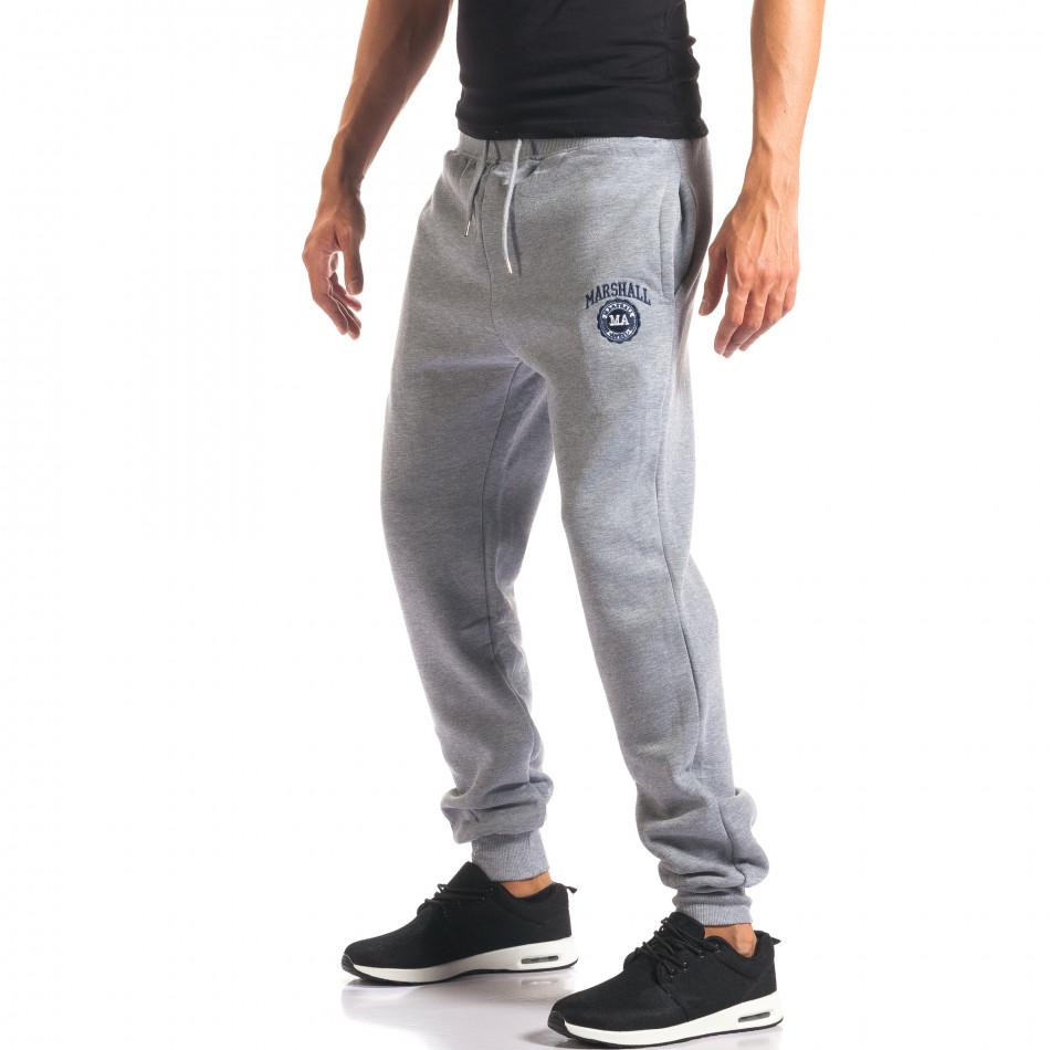Pantaloni sport bărbați Marshall gri it160816-8