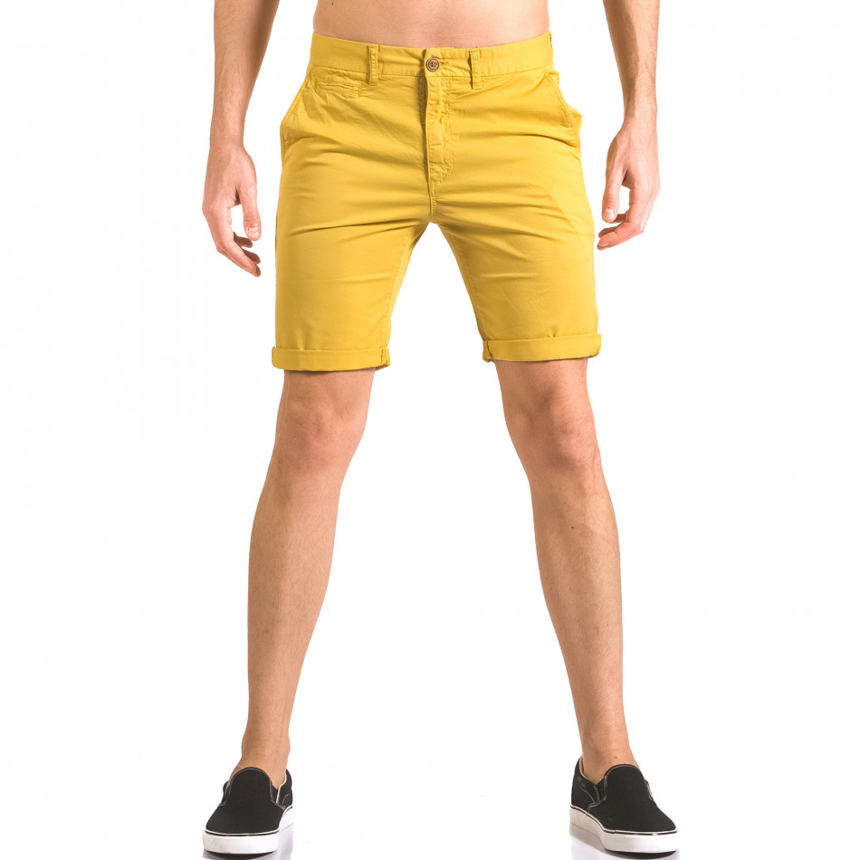 Pantaloni scurți bărbați XZX-Star galbeni ca050416-59