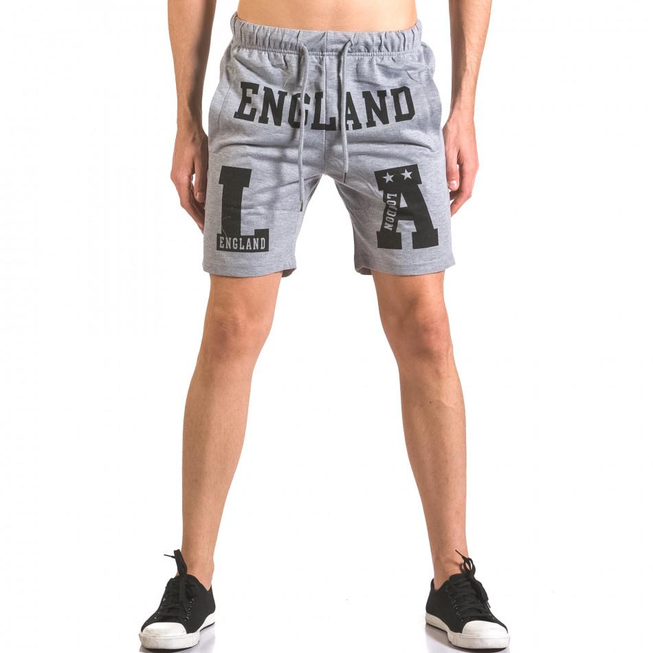 Pantaloni scurți bărbați Furia Rossa gri ca050416-38