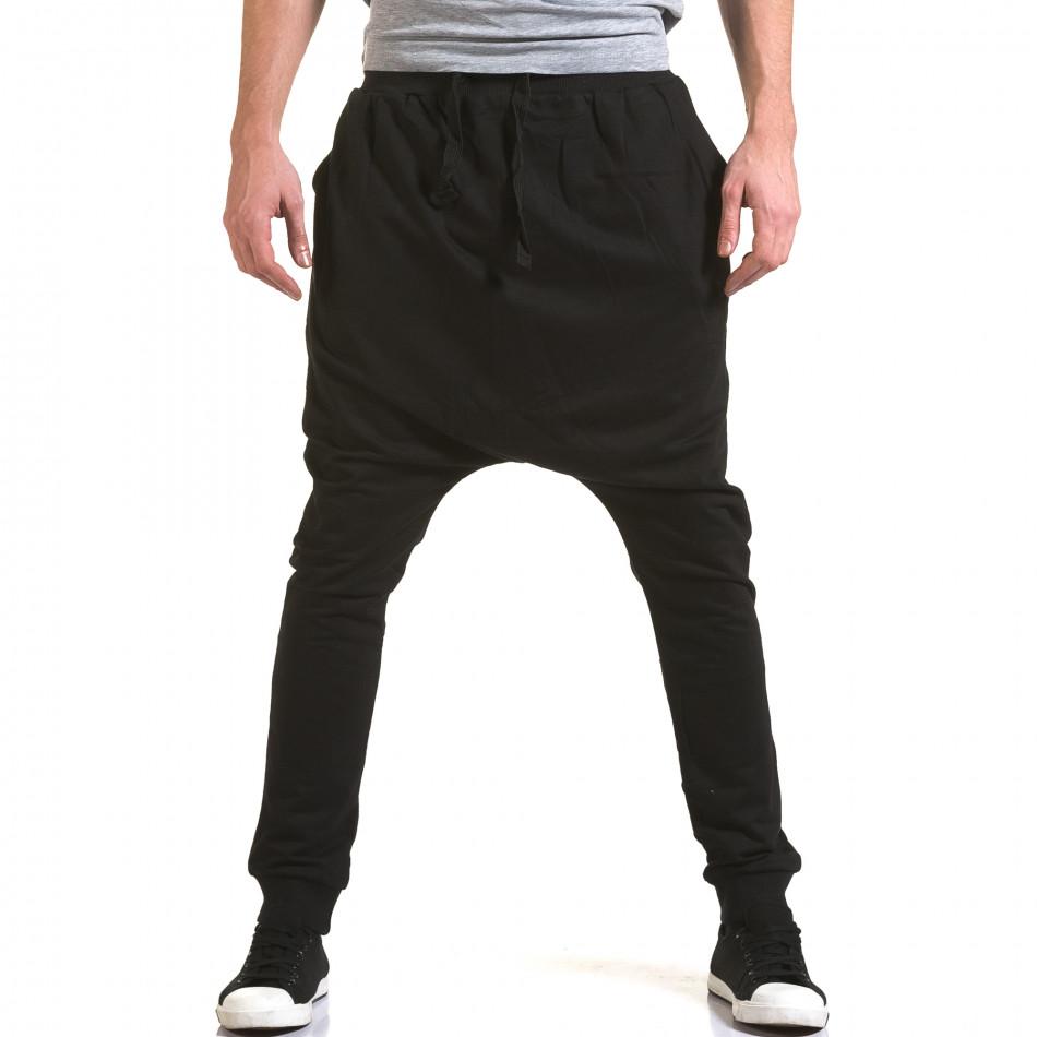 Pantaloni baggy bărbați Dress&GO negri it090216-35