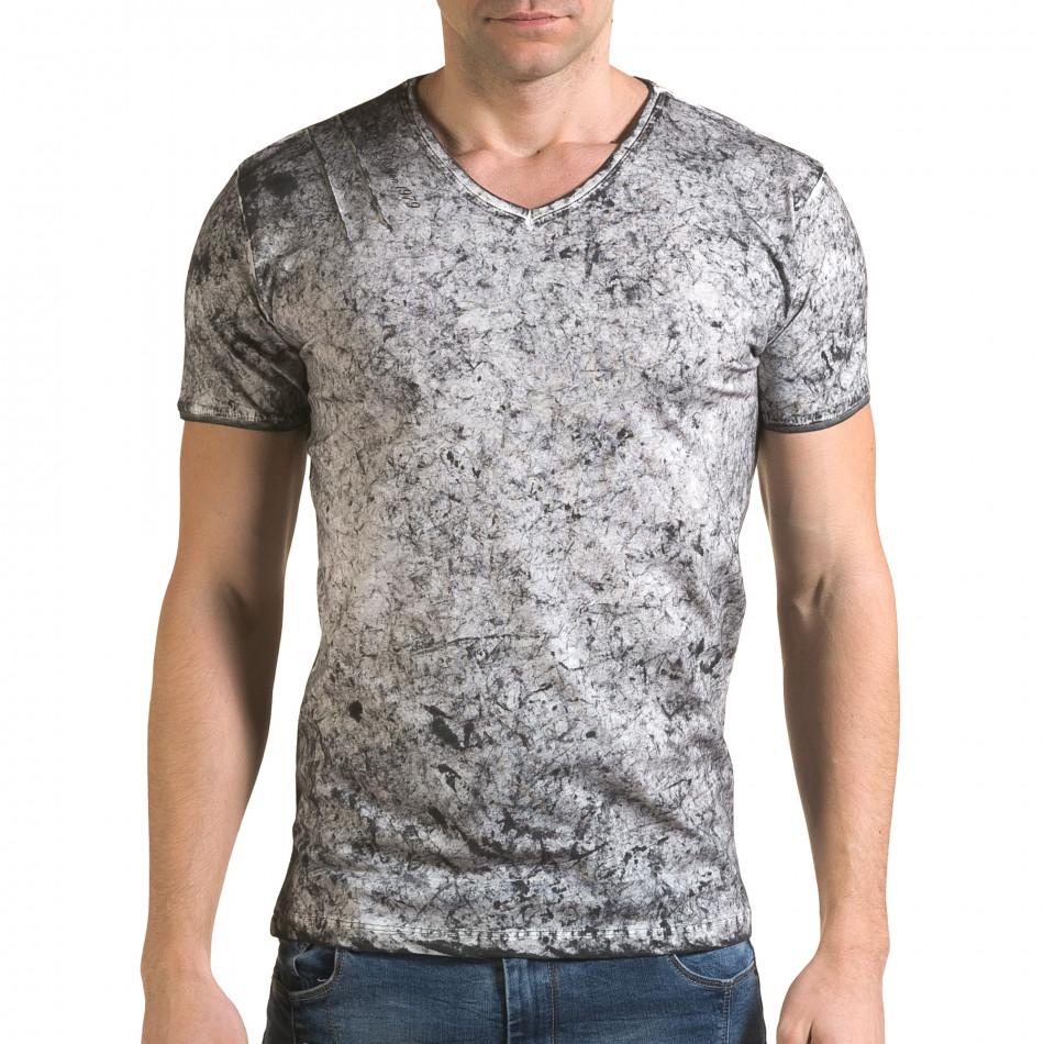 Tricou bărbați Lagos gri il120216-17