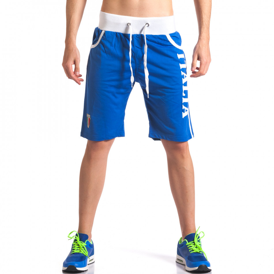 Pantaloni scurți bărbați Dress&GO albaștri it260416-18