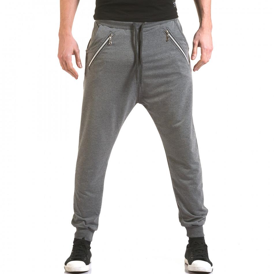 Pantaloni baggy bărbați Franklin gri il170216-141