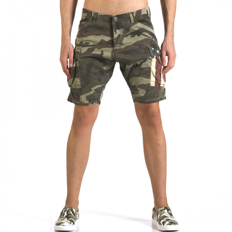 Pantaloni scurți bărbați Bread & Buttons camuflaj it110316-56