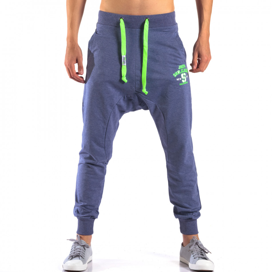 Pantaloni baggy bărbați New Star albaștri it140616-19