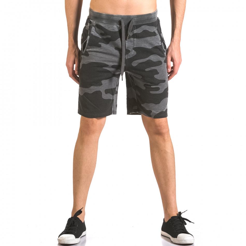 Pantaloni scurți bărbați Top Star camuflaj ca050416-47