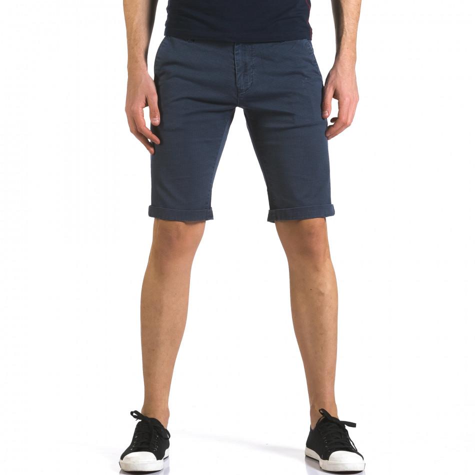 Pantaloni scurți bărbați Bruno Leoni albaștri it110316-49