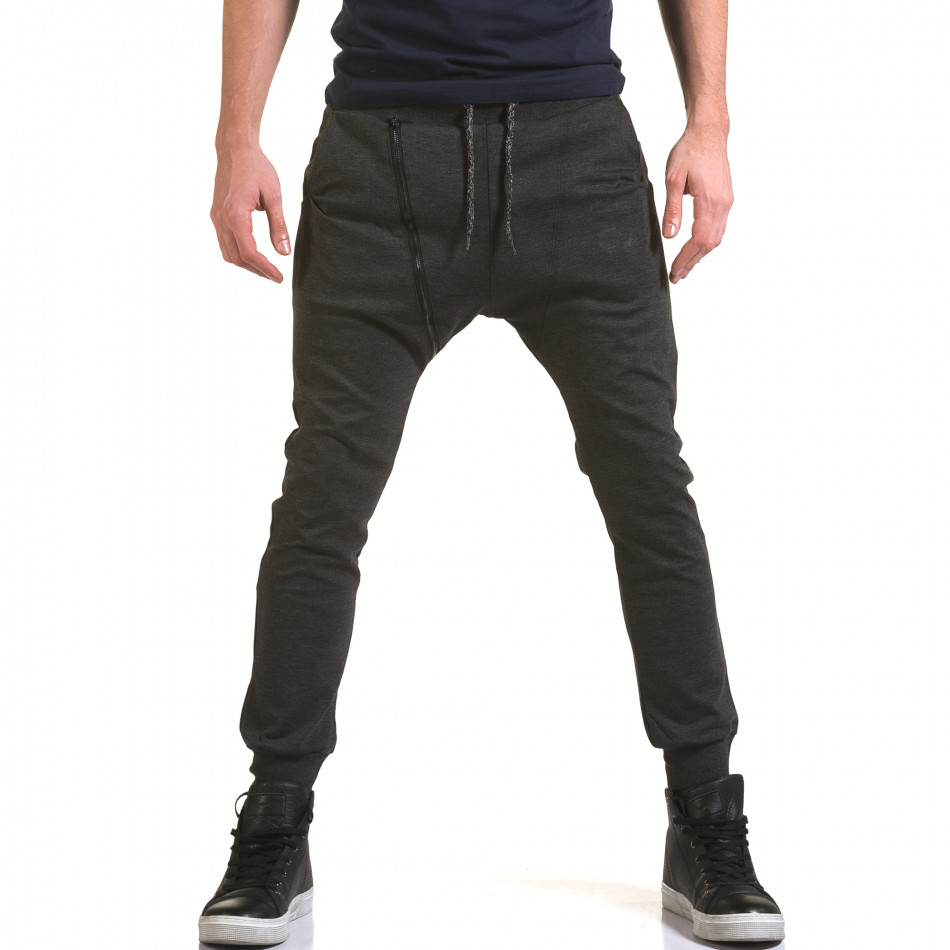Pantaloni baggy bărbați Jack Berry gri it090216-50