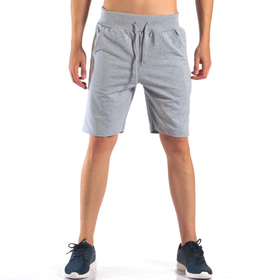 Pantaloni scurți bărbați Social Network gri it160616-8
