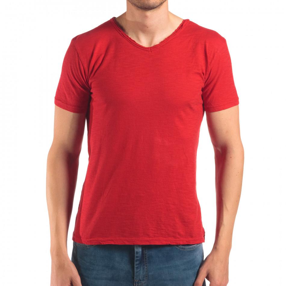 Tricou bărbați FM roșu it150616-30