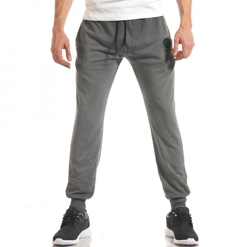 Pantaloni sport bărbați Marshall gri it140317-72