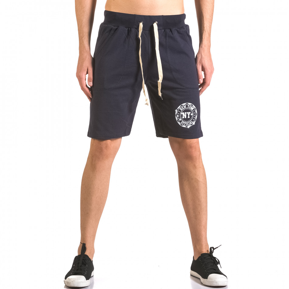 Pantaloni scurți bărbați Me & You albaștri ca050416-43