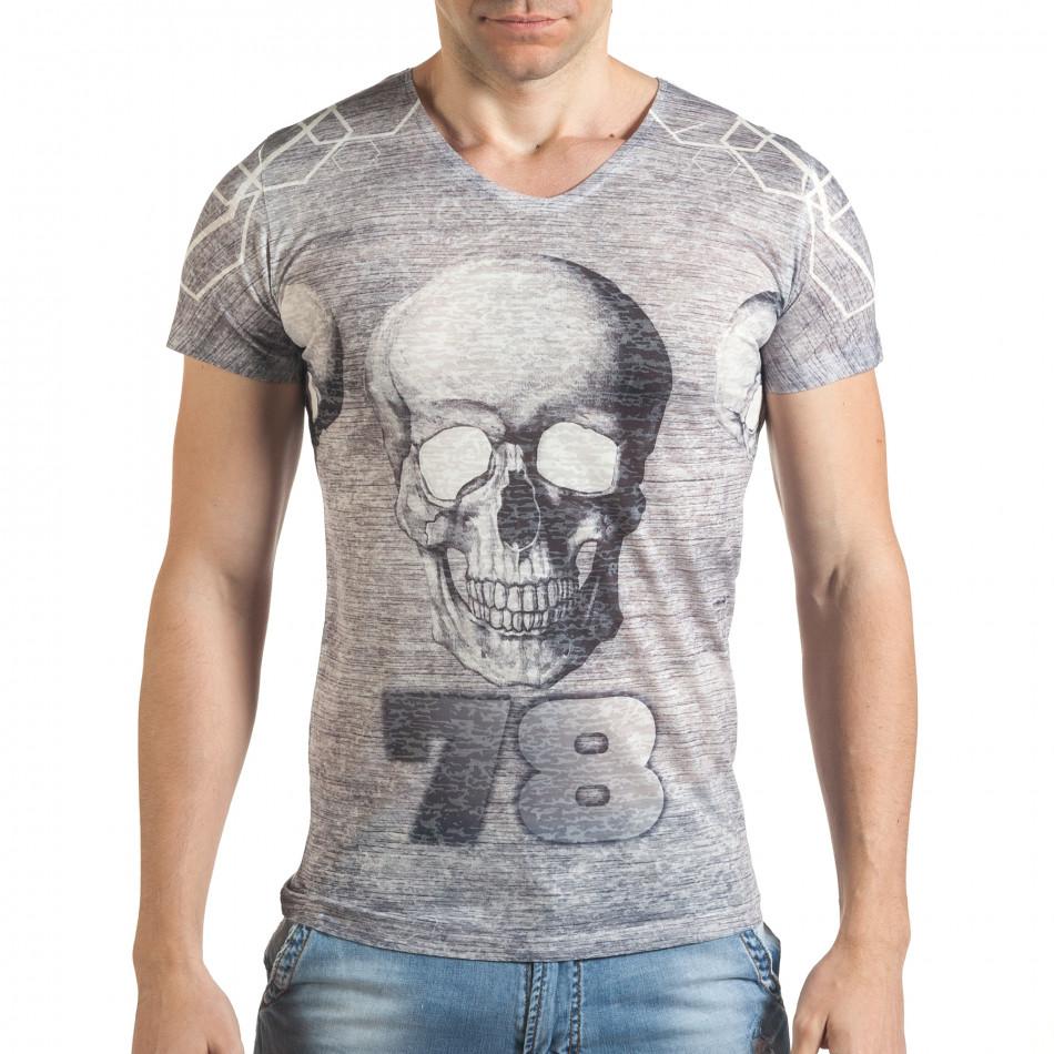Tricou bărbați Lagos gri il140416-65