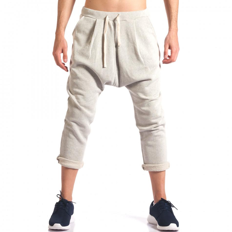 Pantaloni baggy bărbați FCSM bej it260416-36
